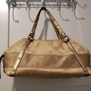 Coach gold satchel